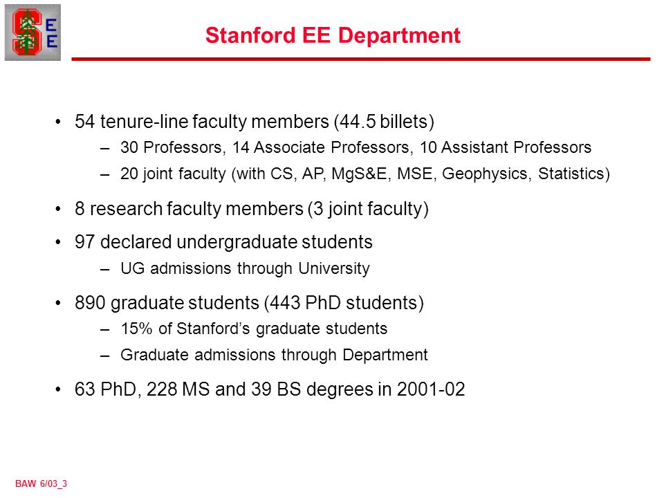 BAW 6/03_1 Undergraduate Education in Electrical Engineering at