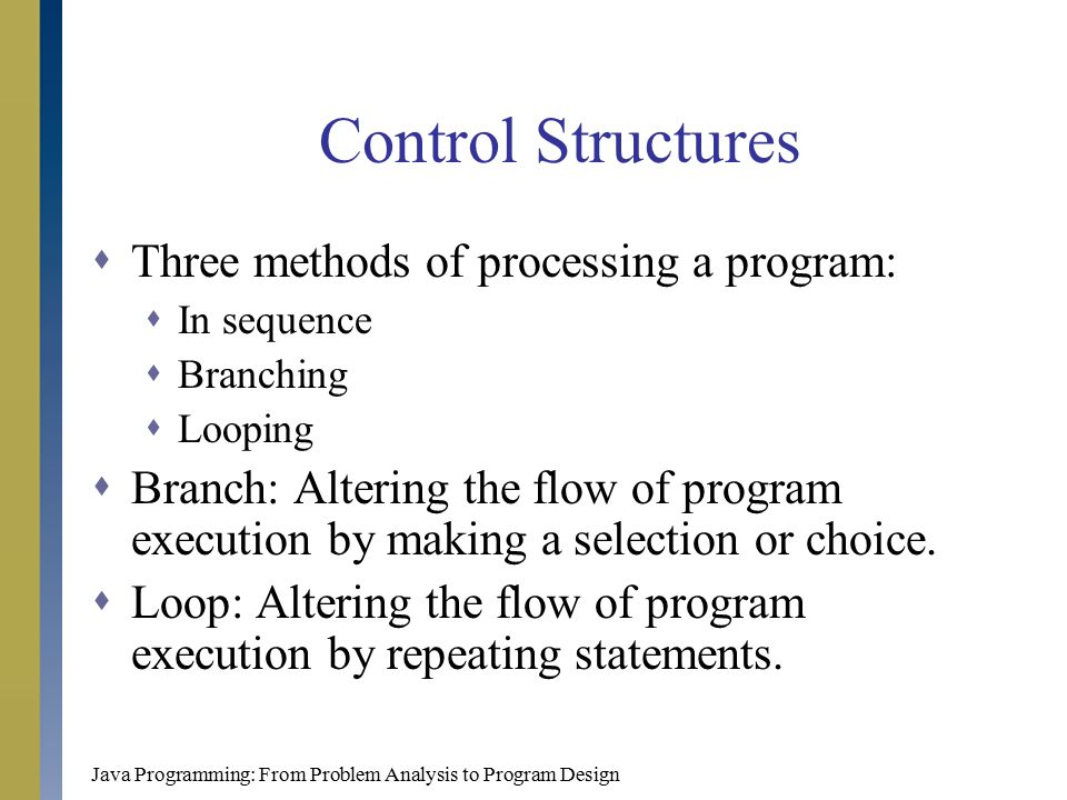 3 control structures in java