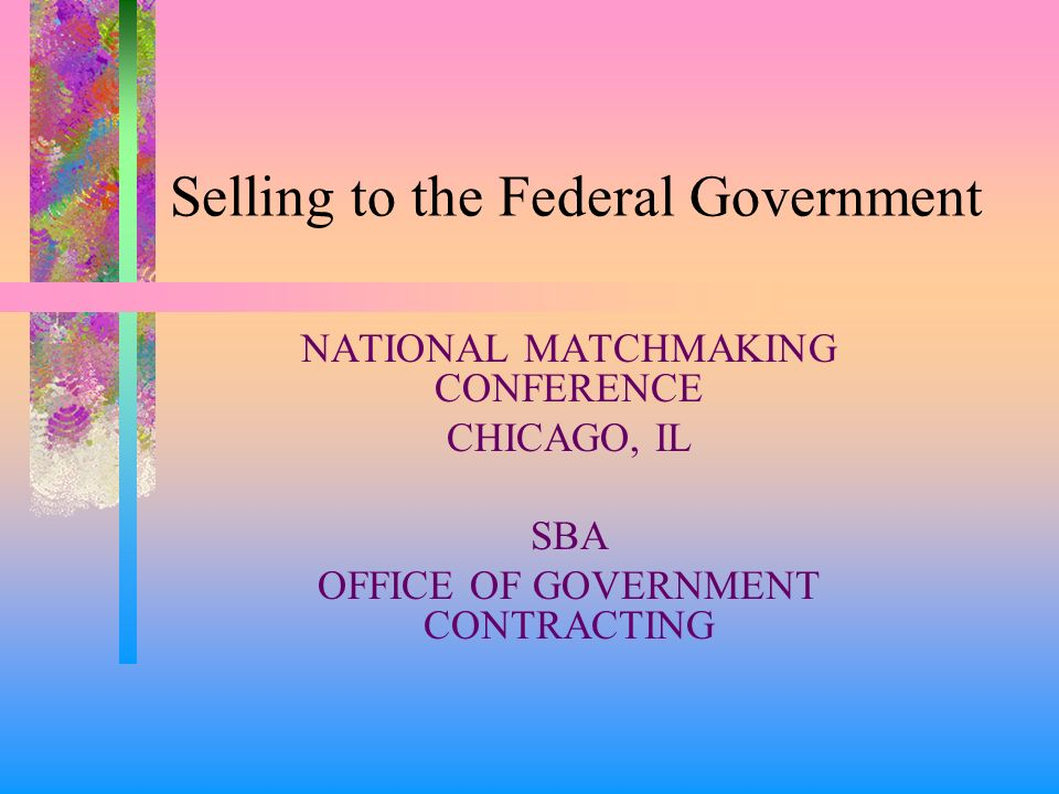 Government matchmaking