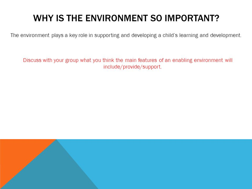 Supporting Vs Enabling Your Child With >> Enabling Environments In The Early Years Session 1 What Is