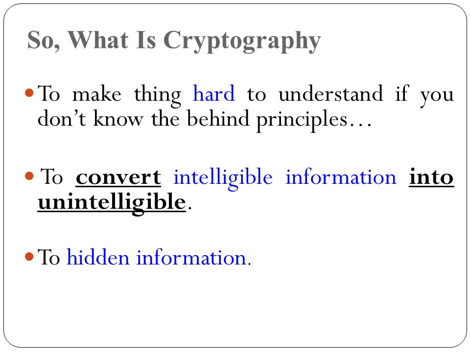 Title: Cryptography Instructor: Dr  Yanqing Zhang Presented by