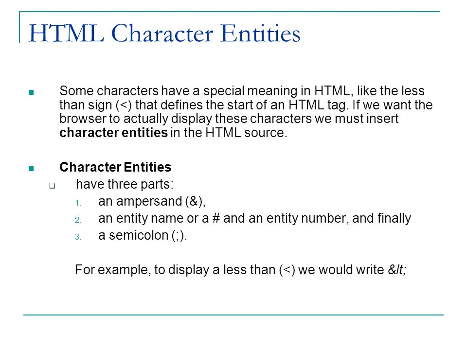 how to show in html