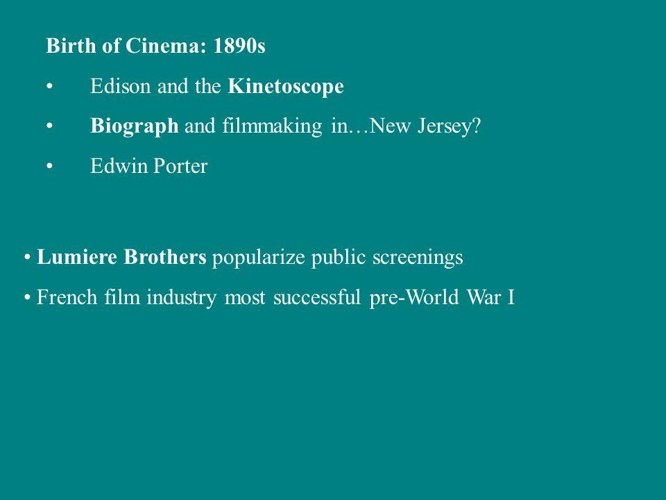Birth of Cinema: 1890s Edison and the Kinetoscope Biograph