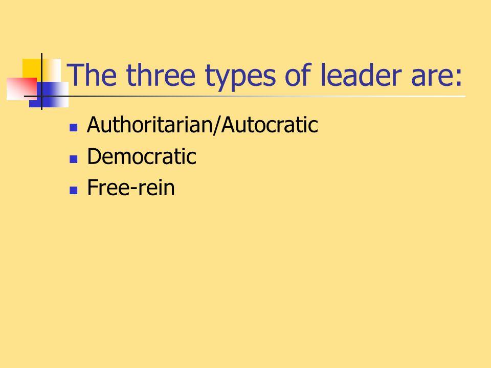 three types of delegation