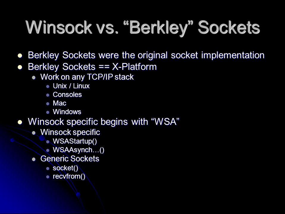 Winsock h vs winsock2 h