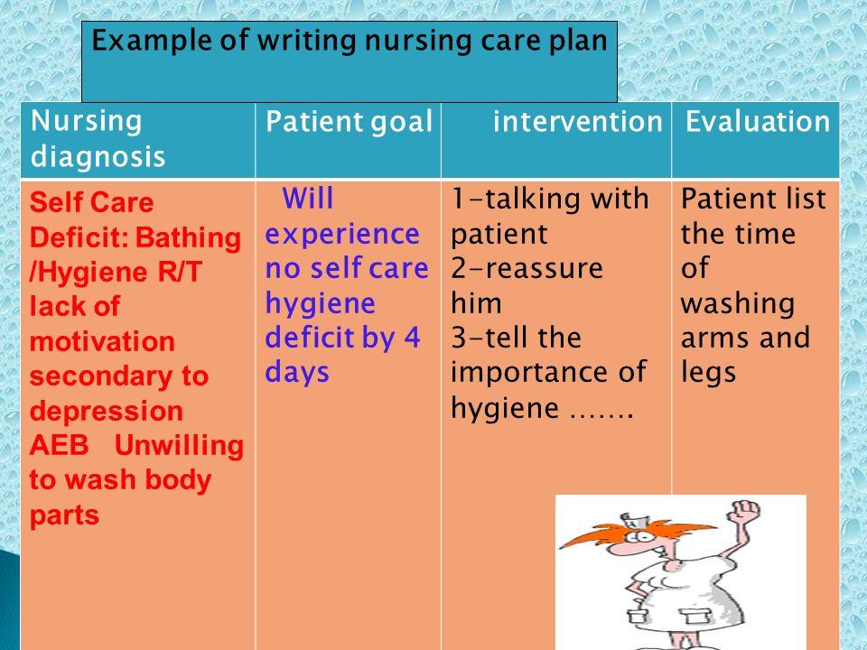how to write a nursing care plan