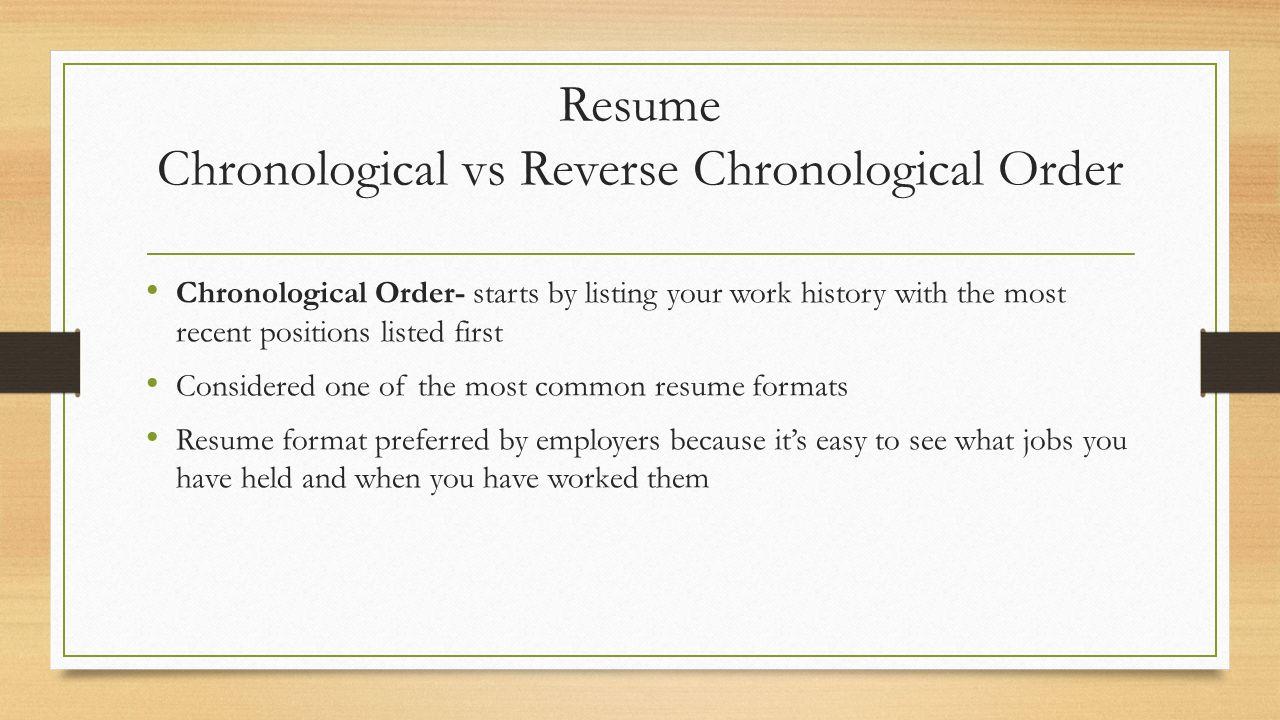 14 Resume Chronological ...