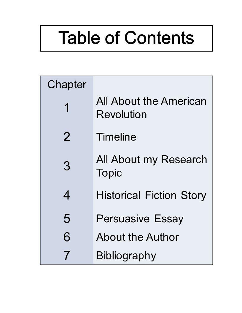 revolutionary war research topics