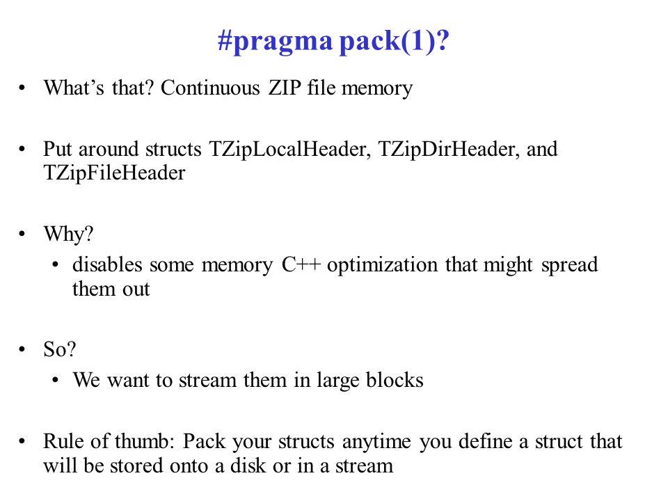 Pragma pack example gcc