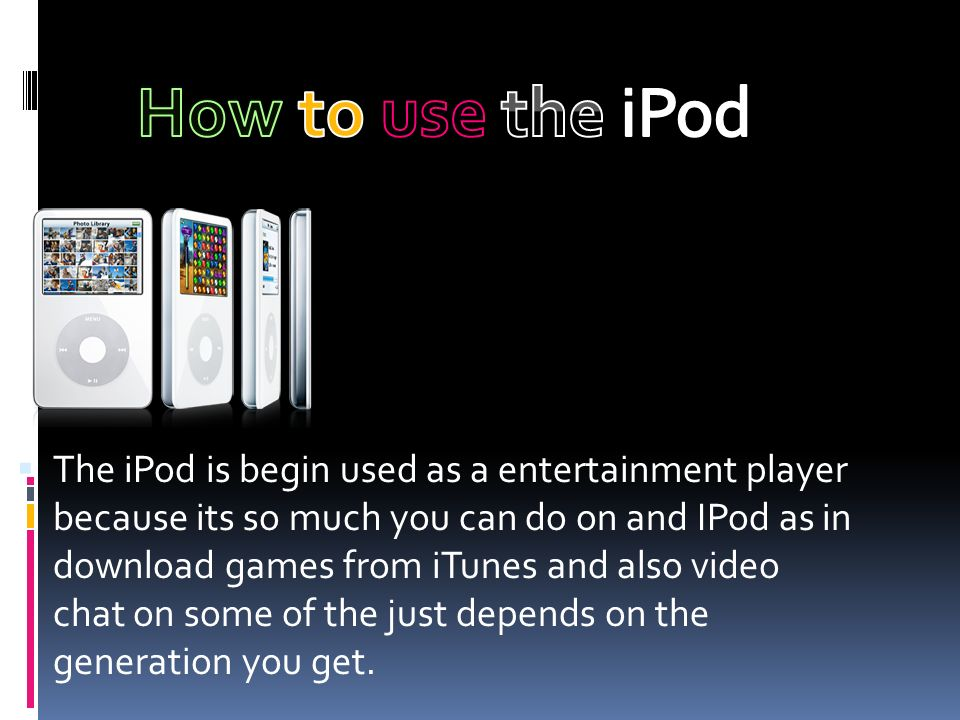 The iPod is a portable music player developed by Apple Computer