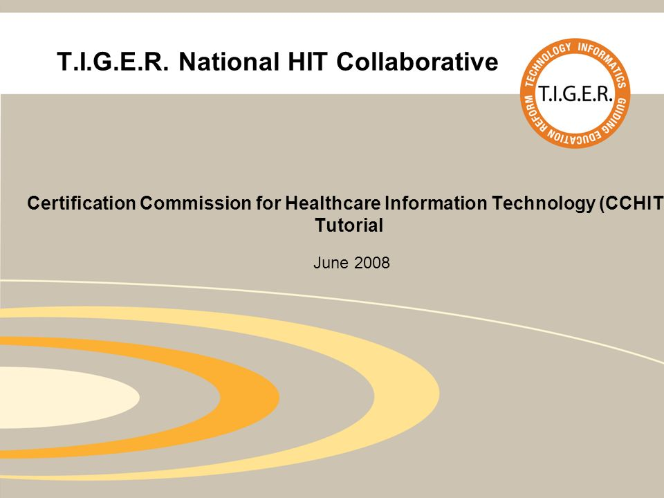 Tiger National Hit Collaborative Certification Commission For