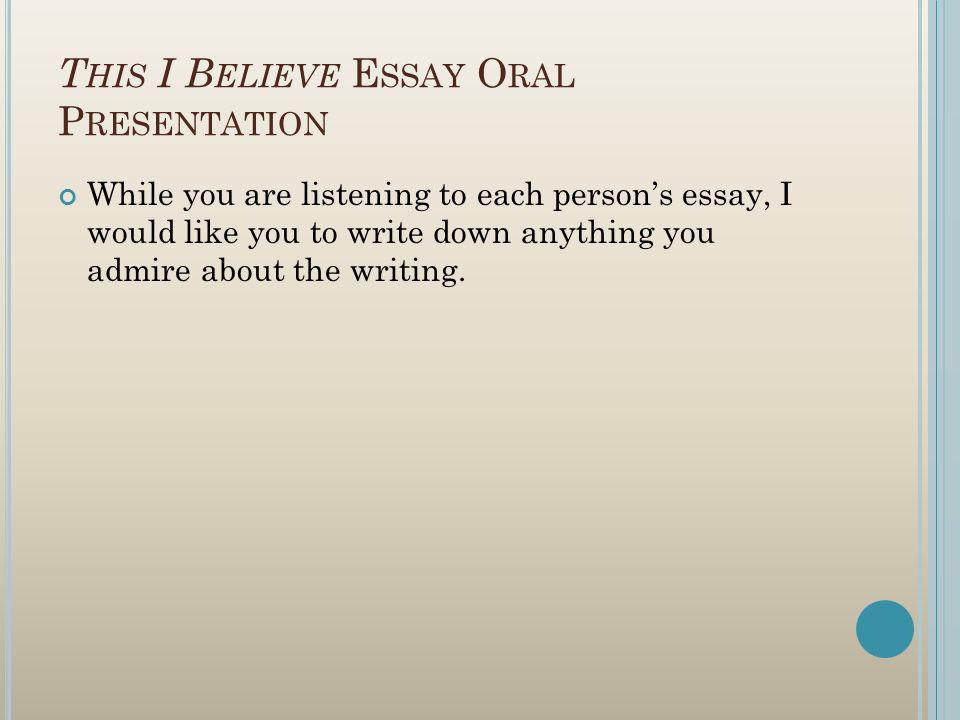 the person i admire essay