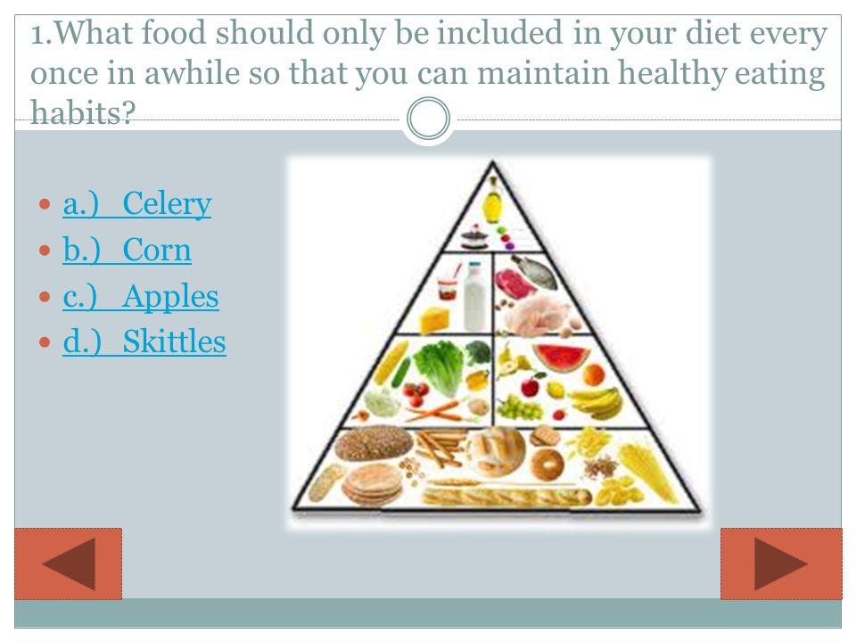 MISS  HAECHERL'S CLASS GRADE LEVEL: 4 Healthy Food Choices
