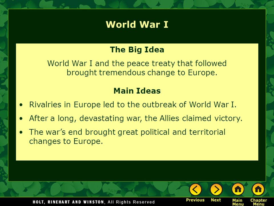 Great Ideas of World War II