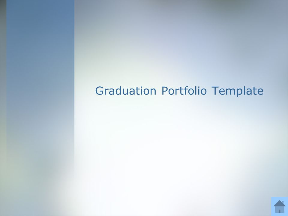 graduation portfolio template directions for use of template text