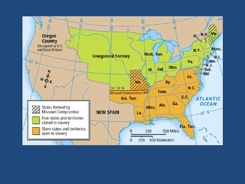 Compromises. A. Missouri Compromise 1. Missouri wants statehood ...