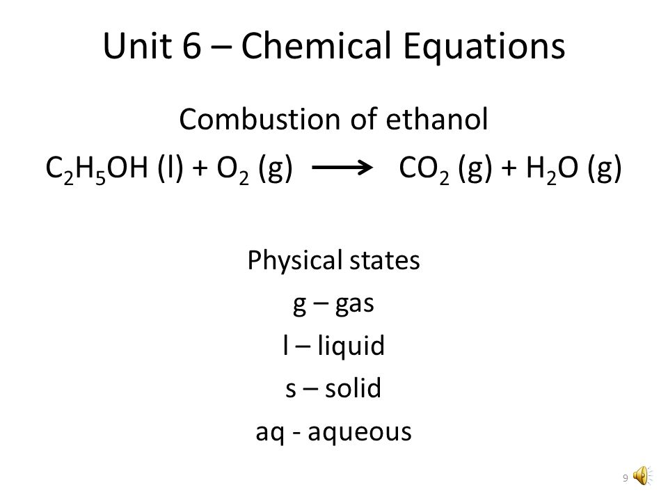 Unit 6 Chemical Reactions And Equations Evidence Of A Chemical
