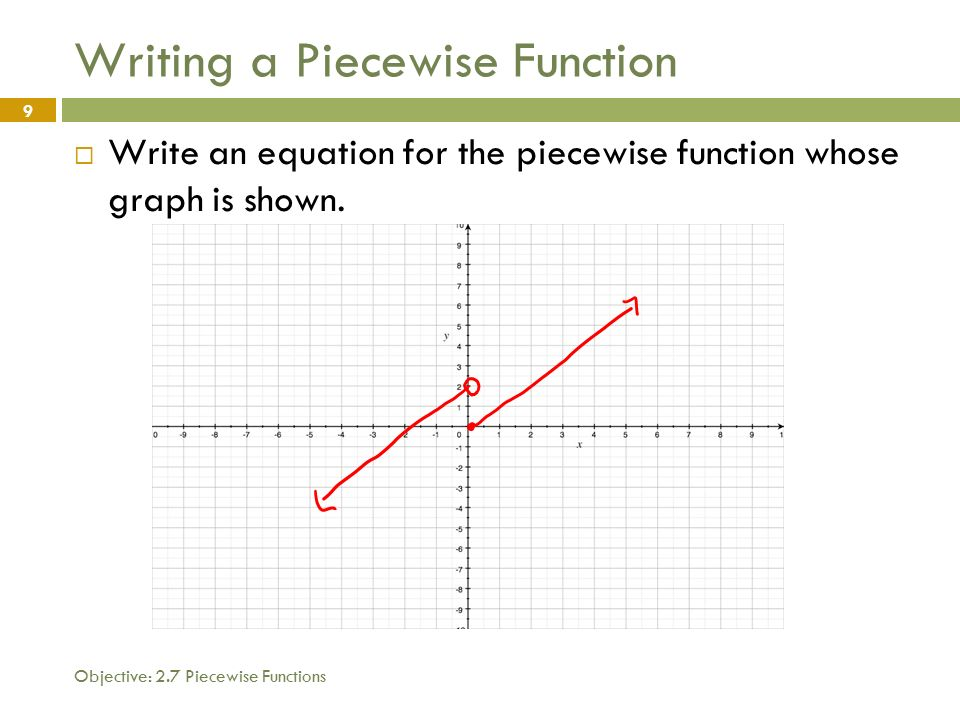 how to write a piecewise function from a function