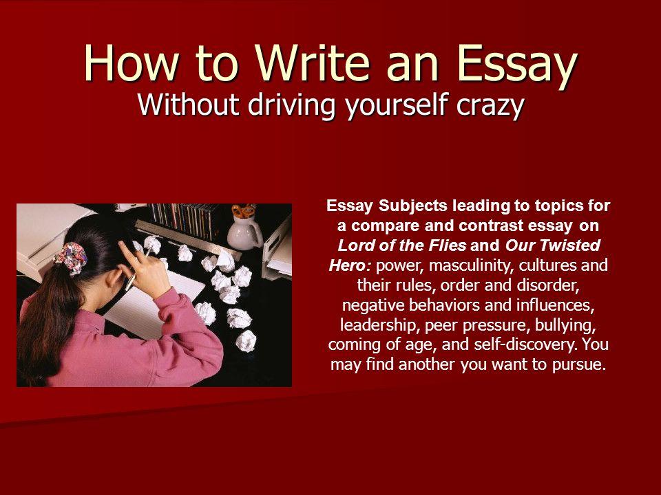 peer pressure topics for essays