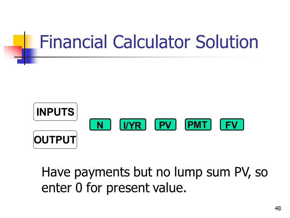 lump sum principal payment calculator