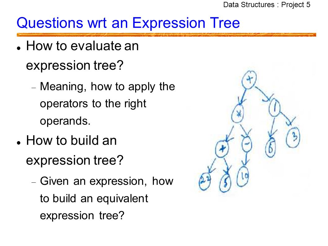 Data Structures : Project 5 Data Structures Project 5 – Expression