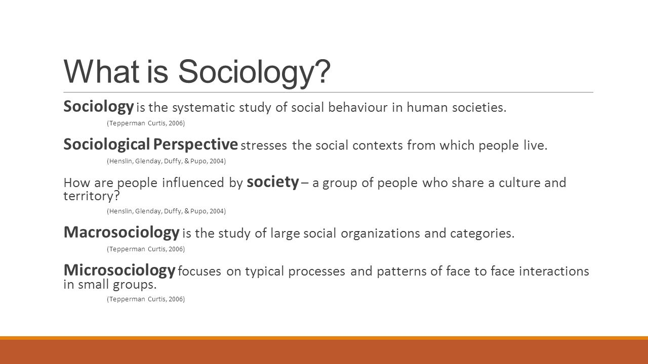 What is sociology 20