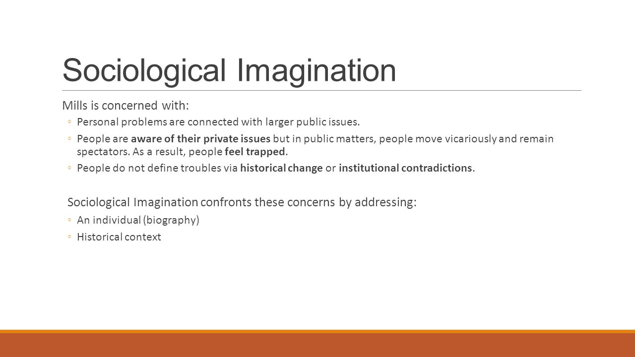 sociological imagination refers to