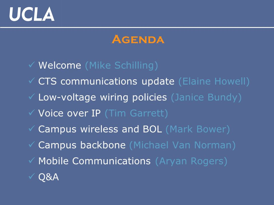 CTS Communications Forum CIOs May 14, Agenda Welcome (Mike Schilling ...