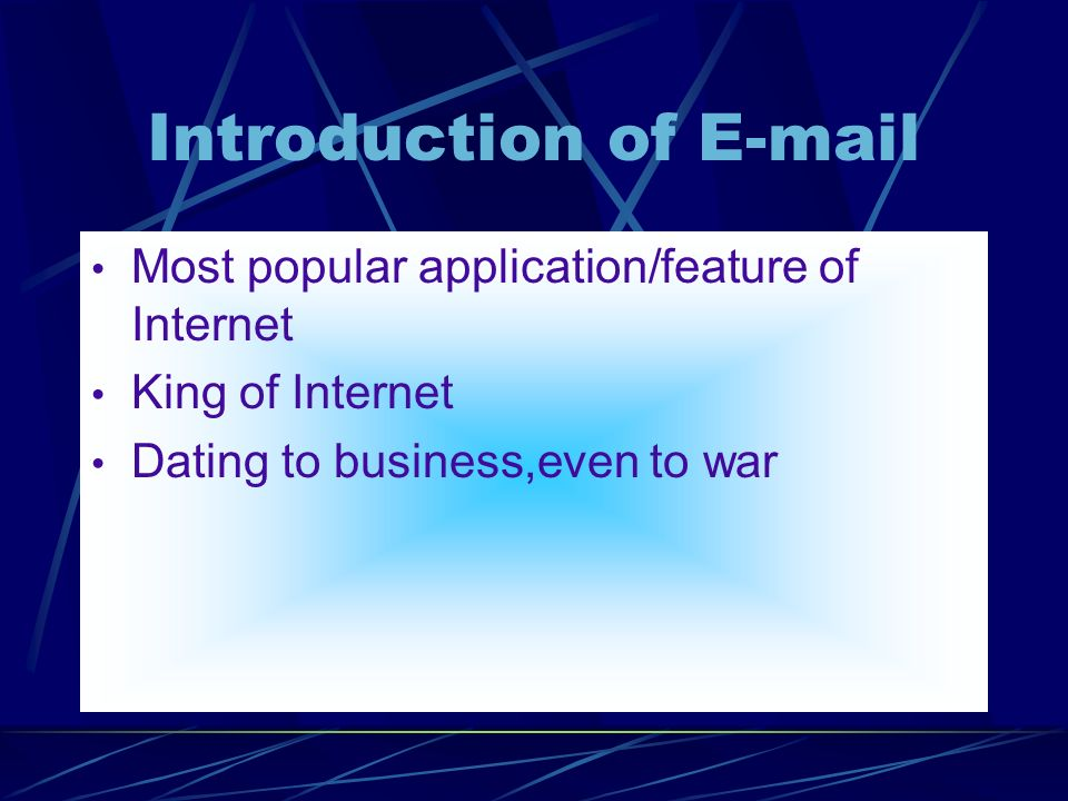 protocol for internet dating