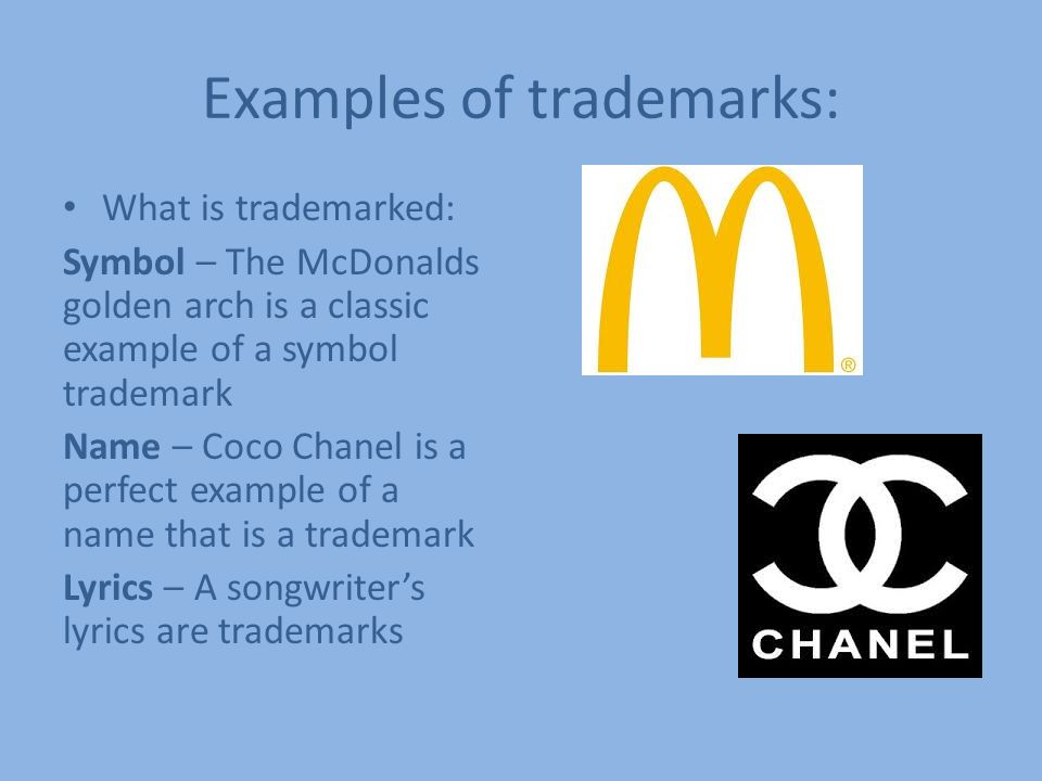 Trademark By Victoria Kinney What Is A Trademark Word Symbol