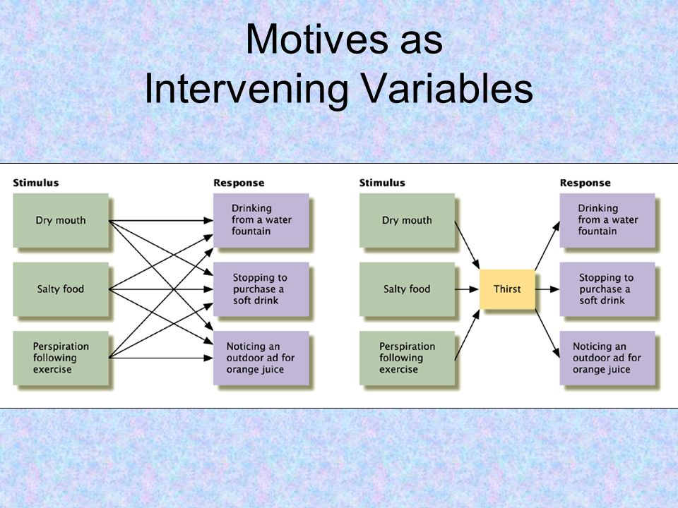 Motives as Intervening Variables