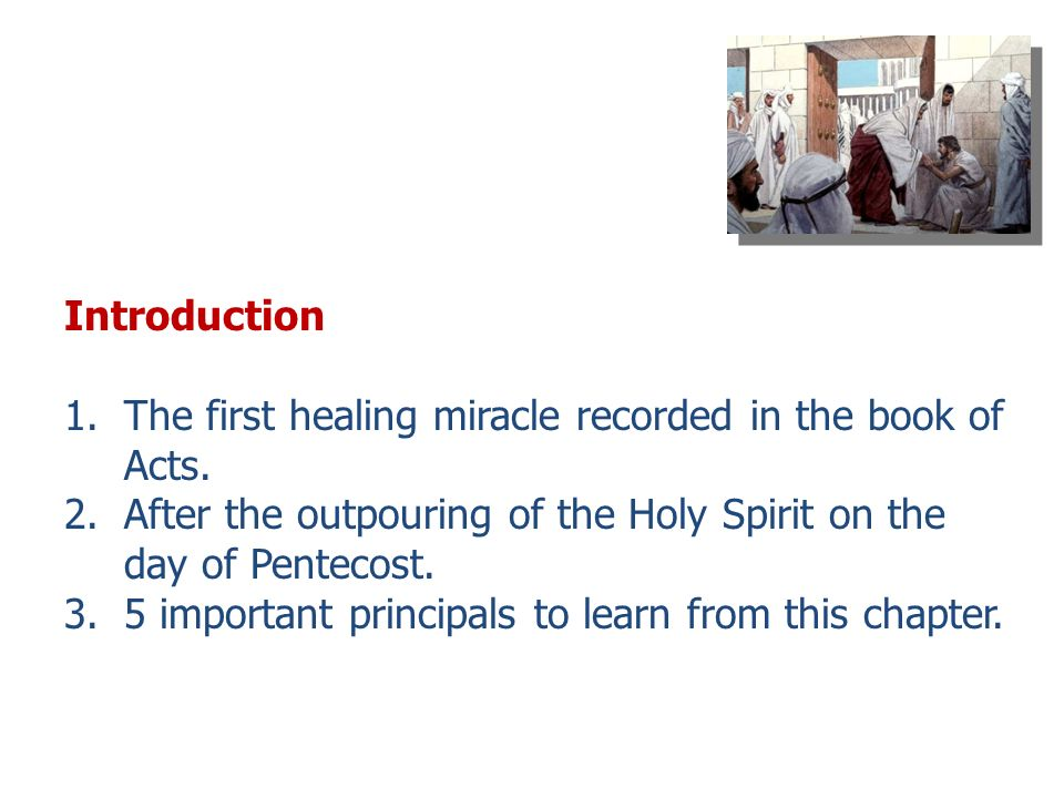 Pentecost Sunday Sermon for Year Introduction 1 The first healing