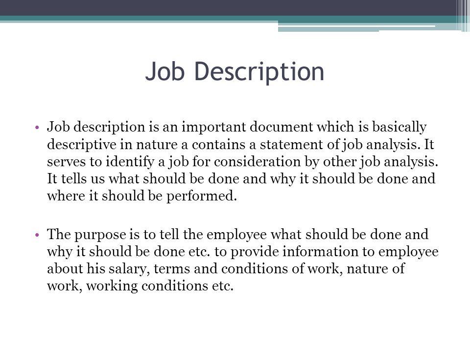 job description and job evaluation job description job description