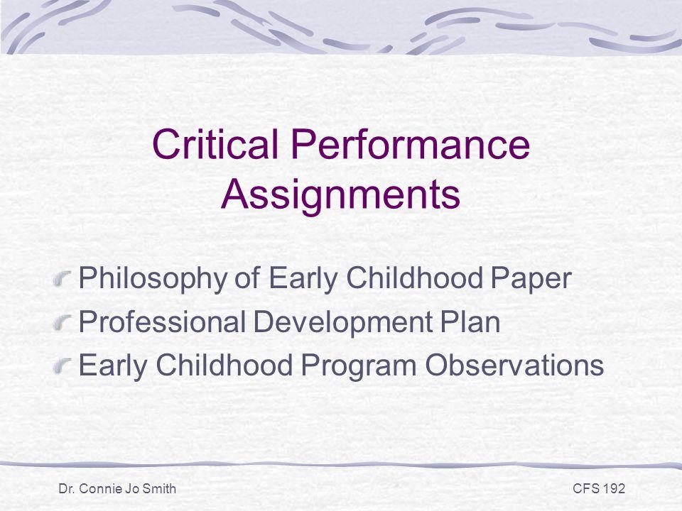 professional development plan paper