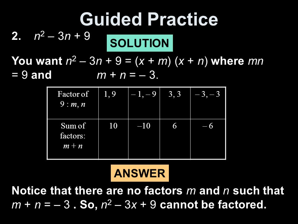 Guided Practice 2.