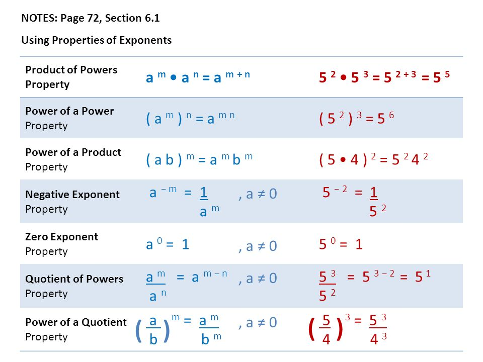 Algebra 2 Chapter 6 Notes Polynomials And Polynomial Functions
