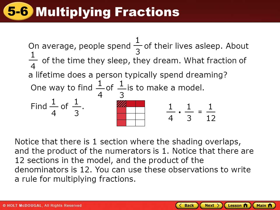 5-6 Multiplying Fractions Warm Up Warm Up Lesson Presentation Lesson