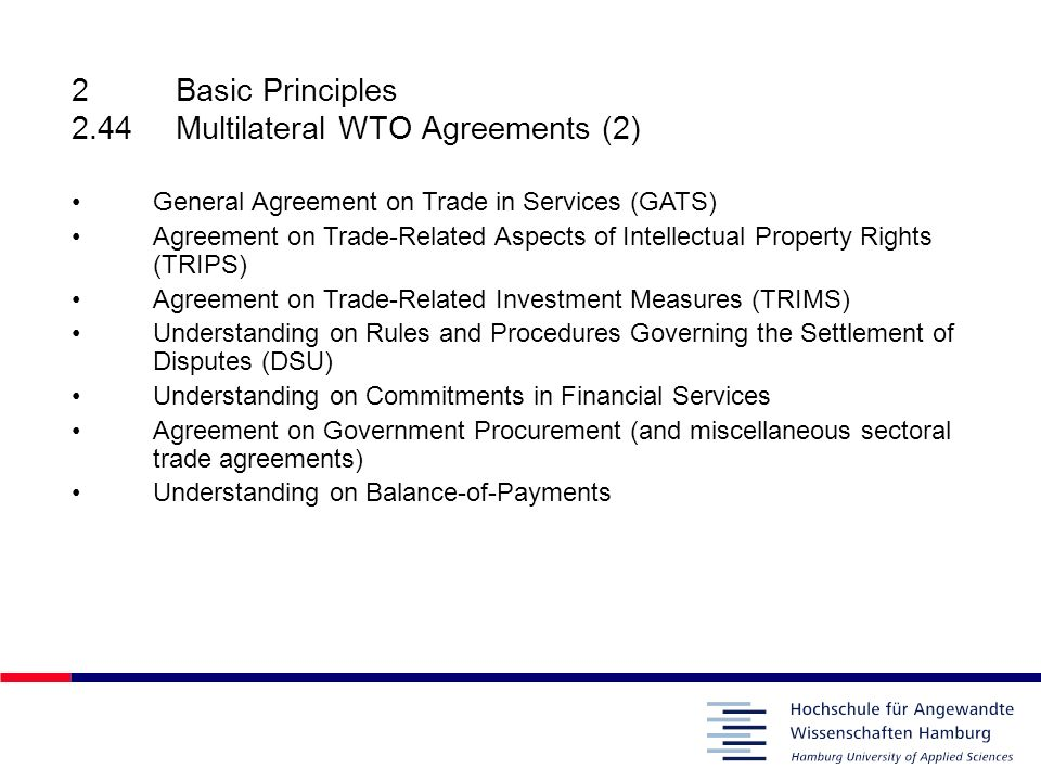 2basic Principles Gatt 227rules On Unfair Trade Practices