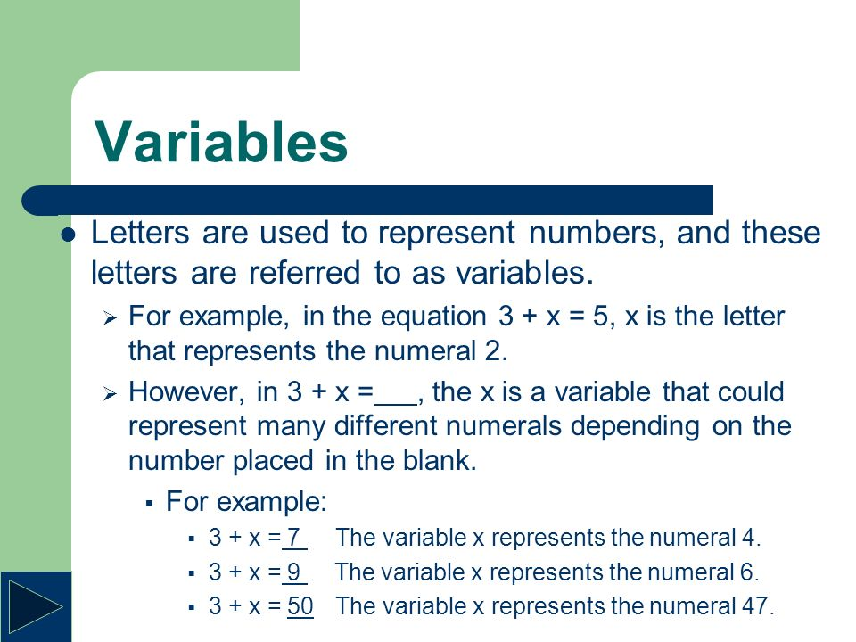 Variables Tutorial 3c Variable A Variable Is Any Symbol That Can Be