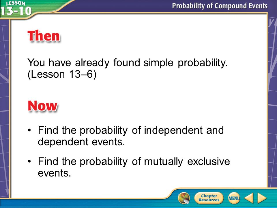 Then/Now You have already found simple probability.