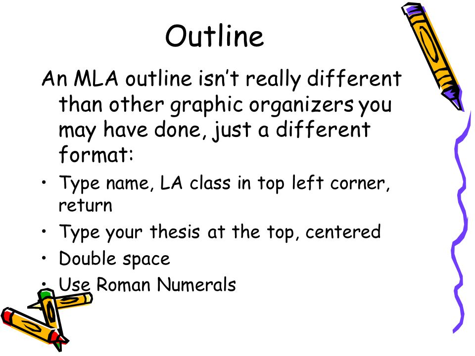 mla research paper outlines