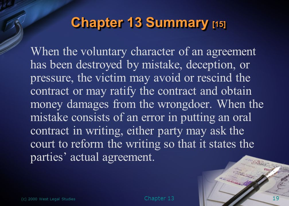 Chapter 13 Capacity And Genuine Assent Twomey Business Law And The