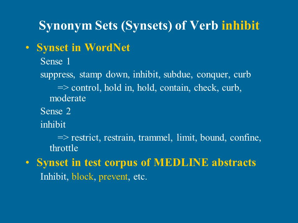 Finding High Frequent Synonyms Of A Domain Specific Verb In English