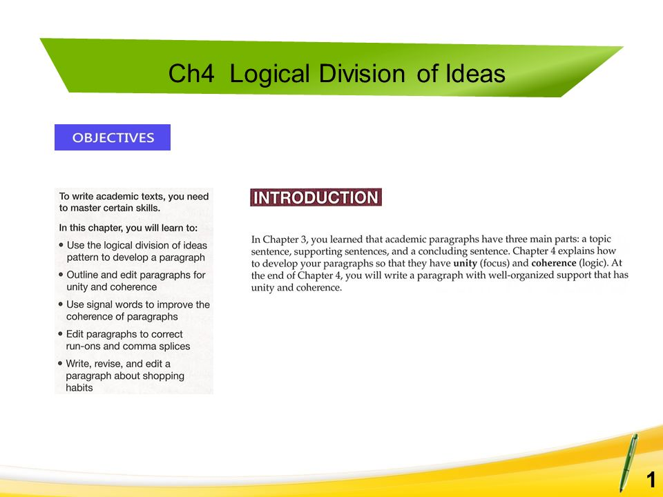 Ch4 logical division of ideas a. Match the words in column a with.