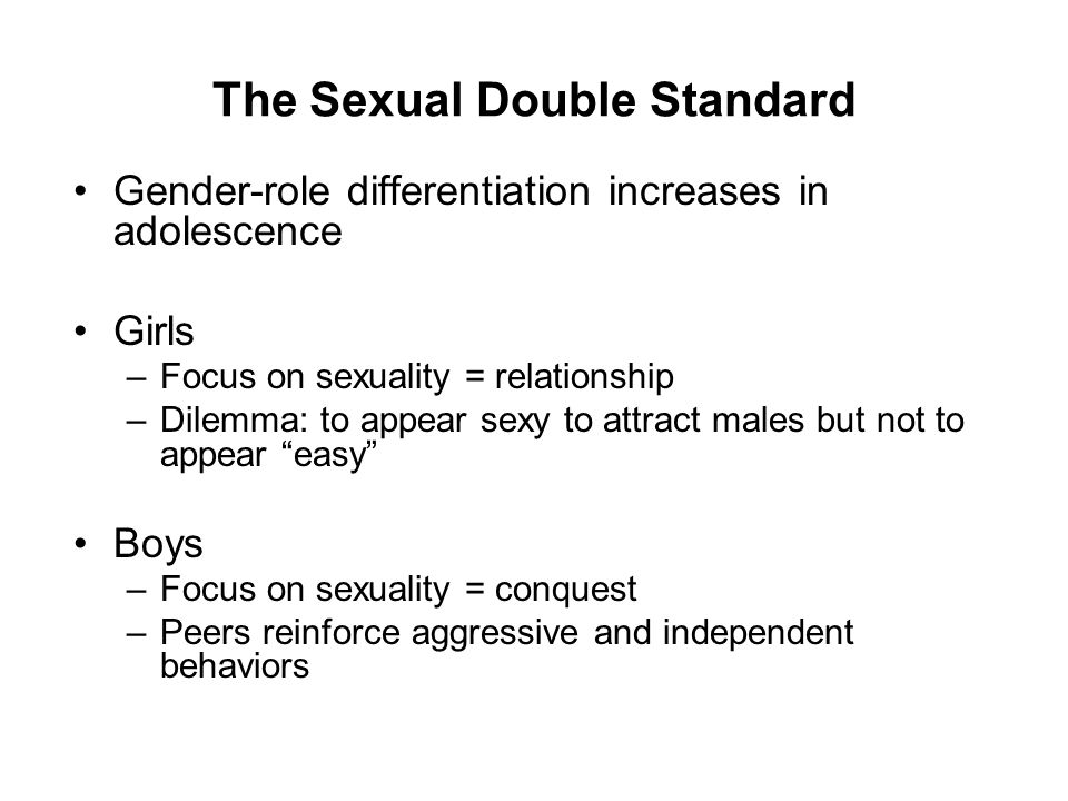 The double standard of sexuality