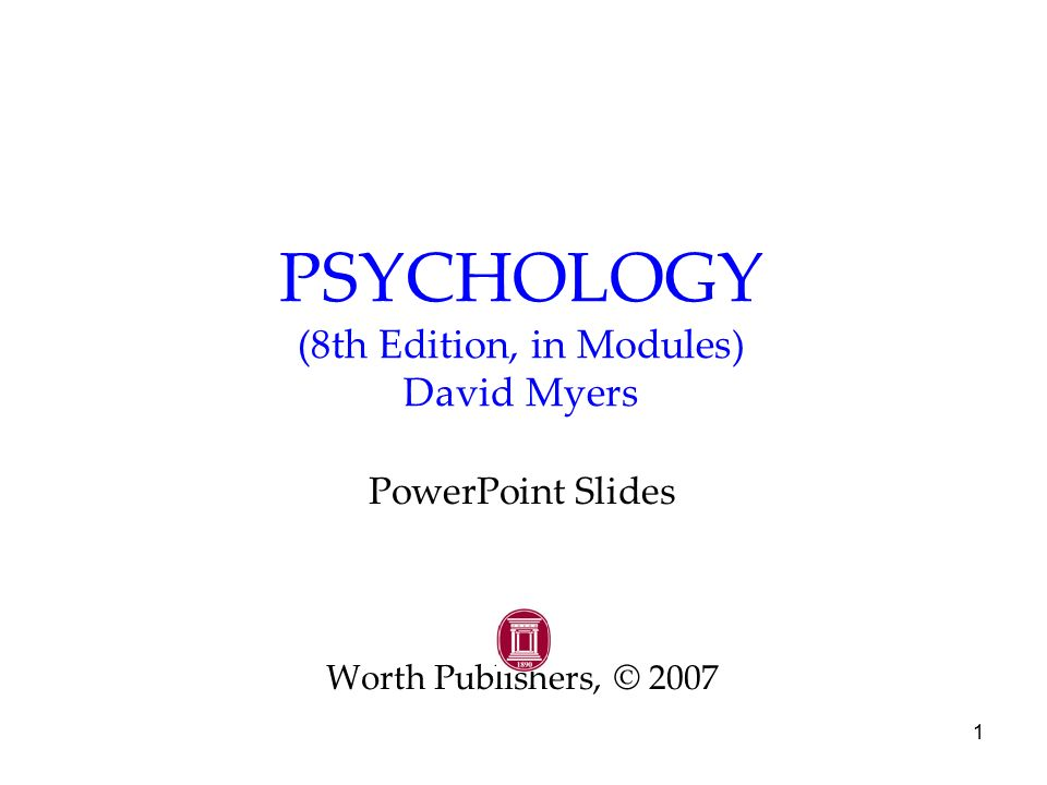 psychology myers 11th edition prologue Psychology (myers) by david g myers, c nathan dewall difference between 11th and 10th editions full length table of contents.