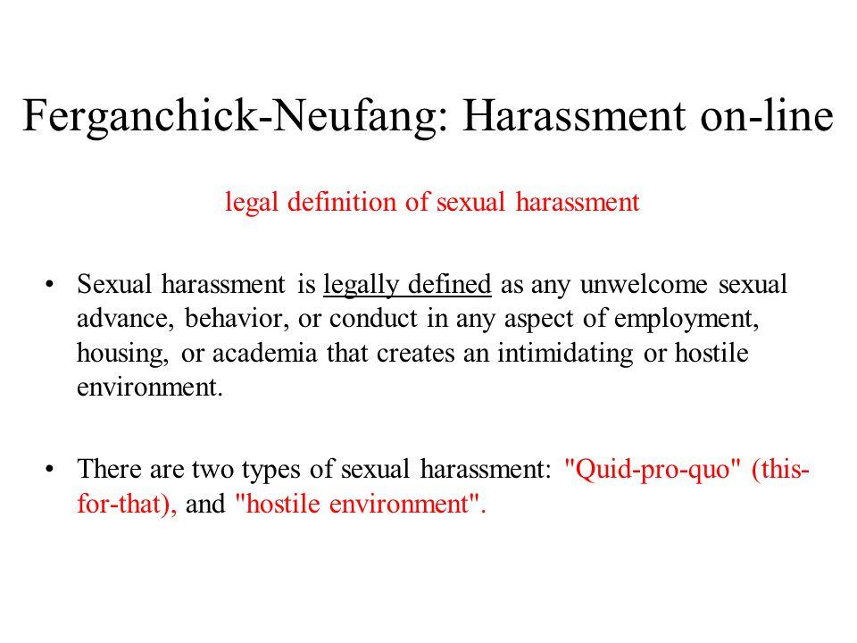 Sexual harassment types quid pro quo contributions