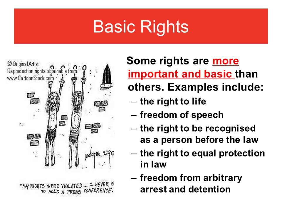 kinds of legal rights