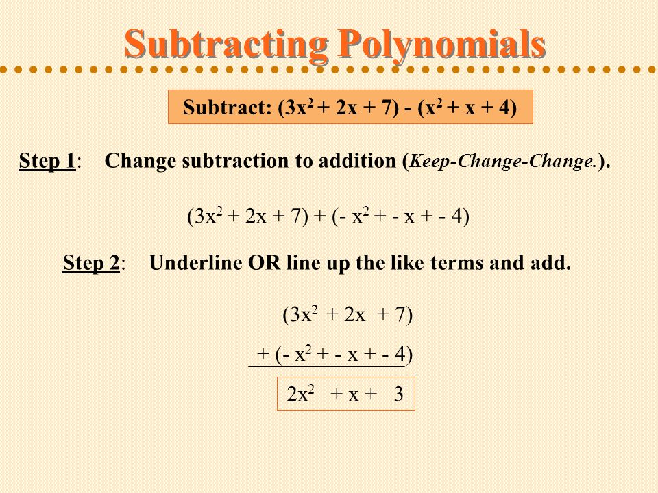 Polynomials Defining Polynomials Adding Like Terms Ppt Download