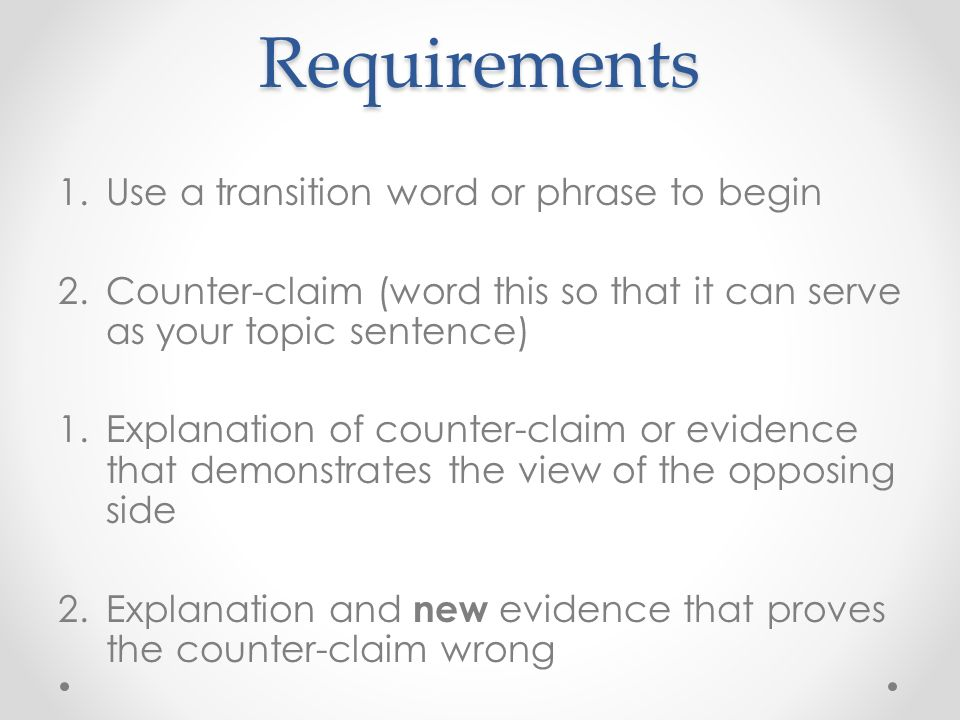 transition words for argument essay
